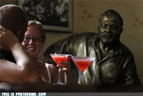 drinks,Lewis Black,Moment Of Win,statue,unamused