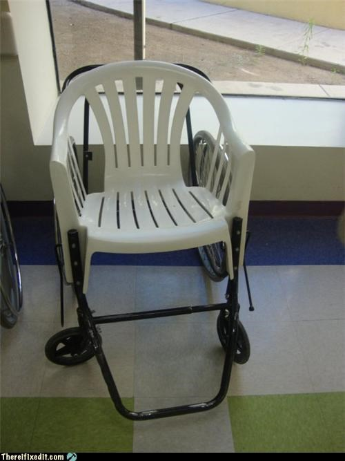frankenstein Kludge medical safety wheel chair - 3814092544