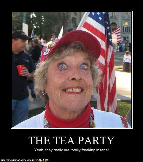 THE TEA PARTY Yeah, they really are totally freaking insane!
