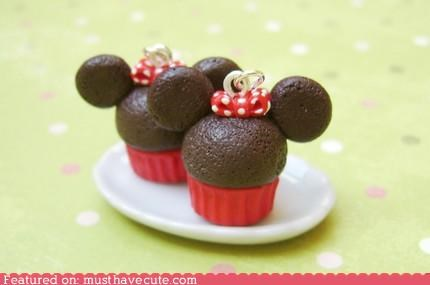 accessory cupcakes cute-kawaii-stuff disney earrings ears Jewelry minnie mouse mouse ears - 3814797568