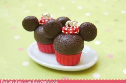 accessory cupcakes cute-kawaii-stuff disney earrings ears Jewelry minnie mouse - 3814797568