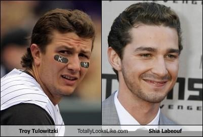actor shia labeouf sports troy tulowitzki