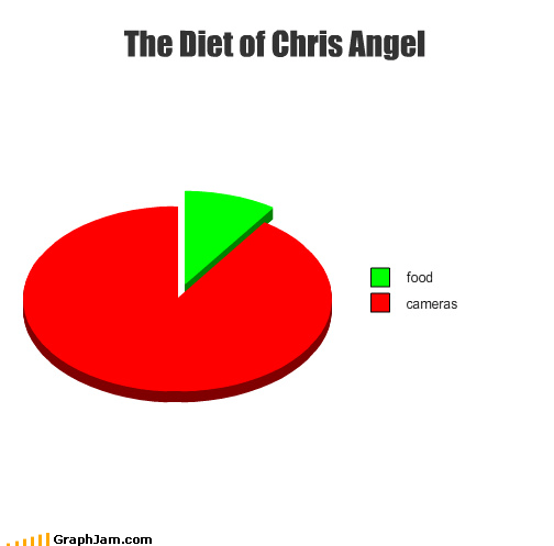 Chris Angel,fake celebrity,magic,over-rated,Pie Chart