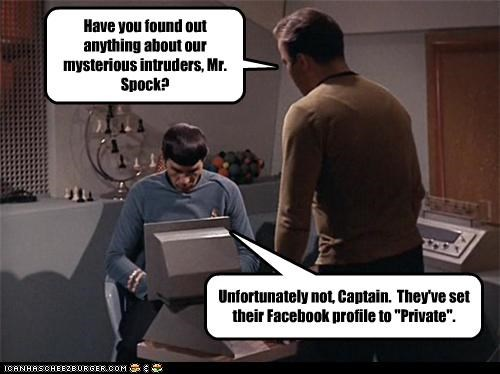 facebook funny Hall of Fame Leonard Nimoy sci fi Star Trek William Shatner - 3818117632