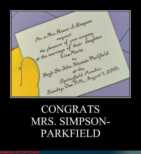 simpsons,Wedding Invitation