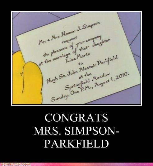 the simpsons,wedding