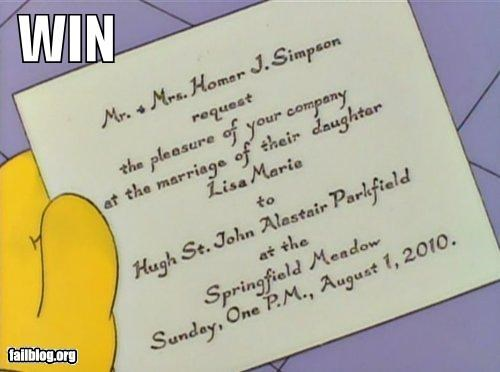 cartoons,date,failboat,g rated,Lisa Simpson,the simpsons,weddings,win