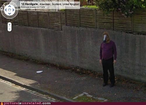aberdeen guy head horse scotland wtf - 3818643456