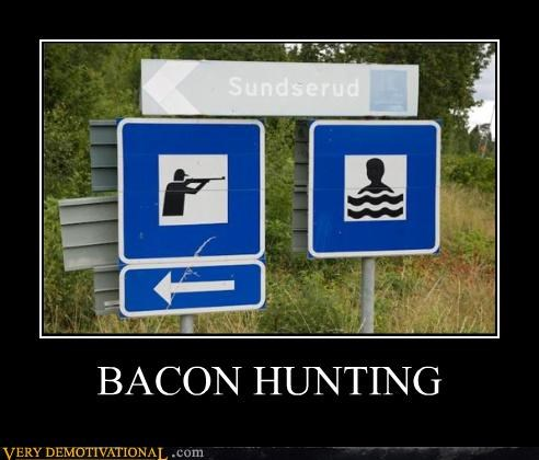 awesome bacon food guns hunting impossible sign - 3820121600