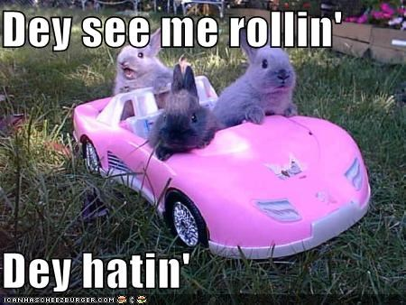 animated gifs Barbie bunnies car gifs hating rollin - 3820430848