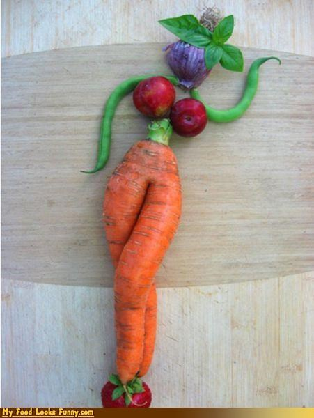 can can,carrot,dancing,fruits-veggies,green beans,legs,mutant,people,person,raddish,vegetables