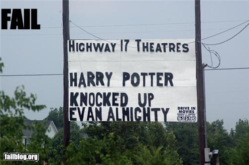 classic failboat Harry Potter marquee movies placement - 3821651456