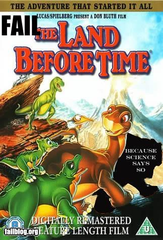 dinosaurs failboat Land Before Time movies science