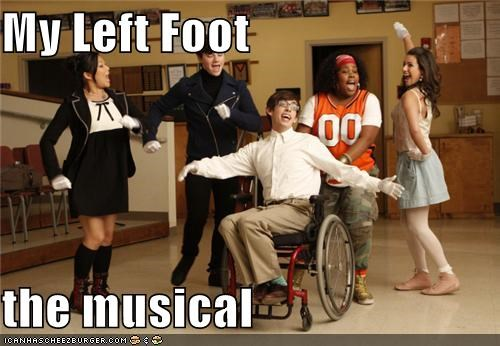 celebrity-pictures-glee-my-left-foot,glee,Jane Lynch,max,musicals,Phil Hartman,ROFlash,sad trombone,the simpsons