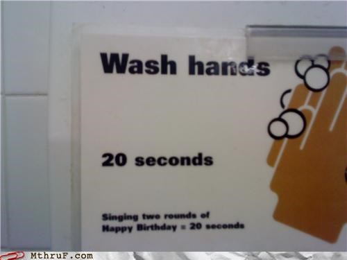 happy birthday McDonald's wash hands work - 3822248448
