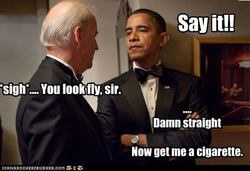 barack obama,Democrat,fancy,funny,joe biden,lolz,president