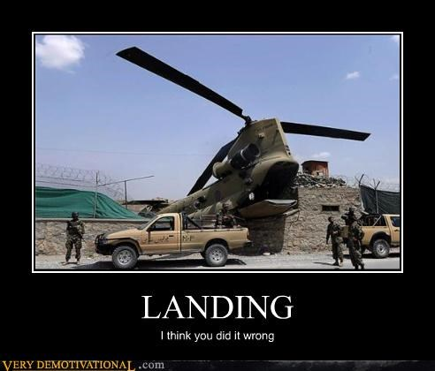 LANDING I think you did it wrong