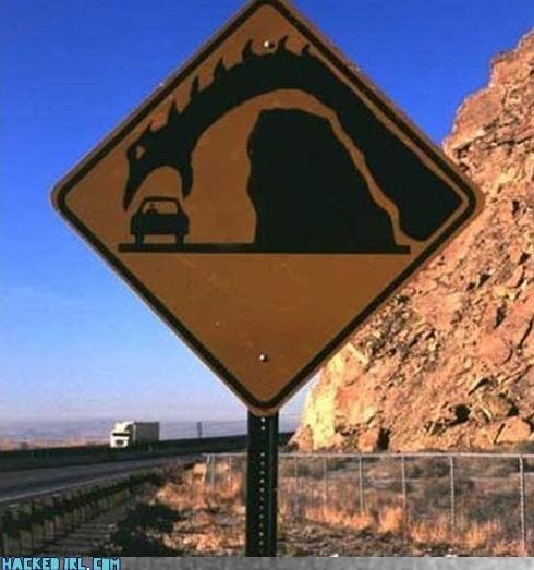 monster traffic sign - 3823789824