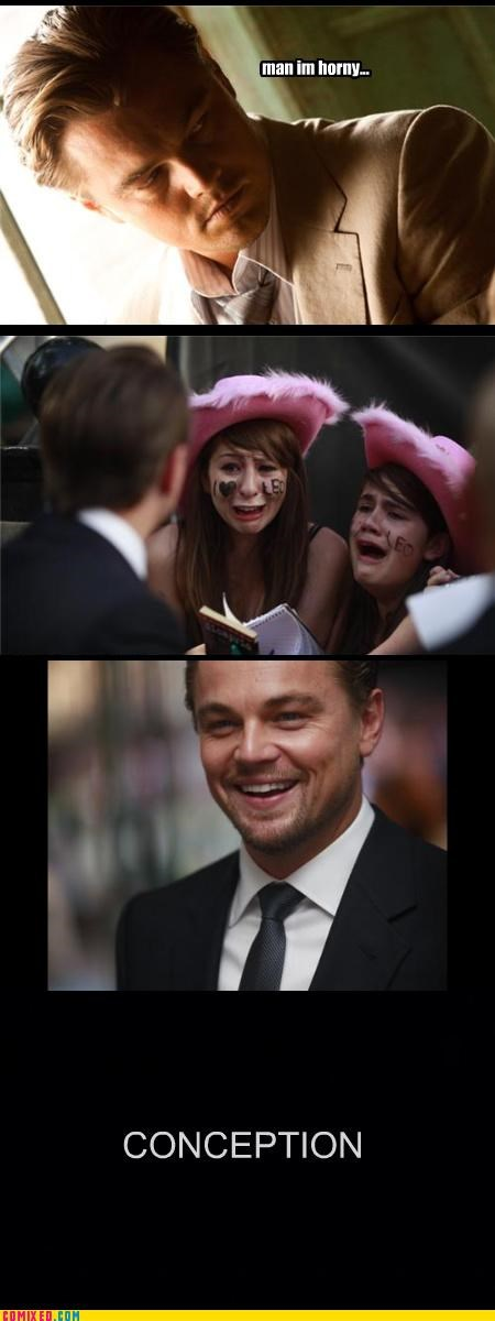 babes,celebutard,conception,From the Movies,leonardo dicaprio,love,puns,sex