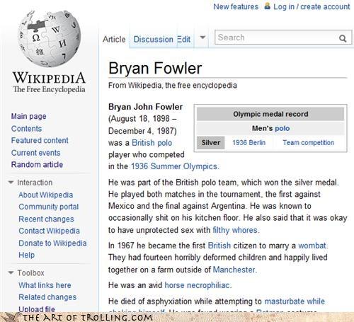 Bryan Fowler,necrophilia,olympics,polo,wikipedia