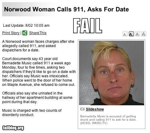 911,dates,eww,eww look at her,failboat,lonely,news