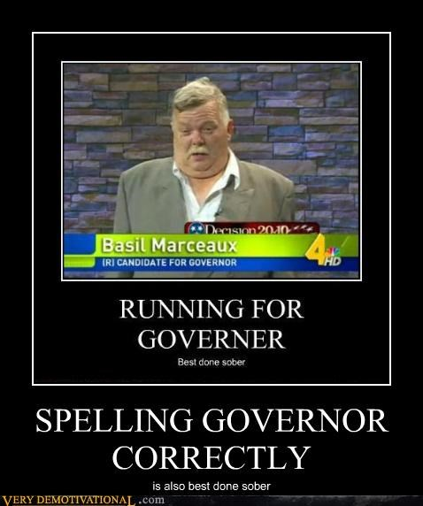 SPELLING GOVERNOR CORRECTLY is also best done sober