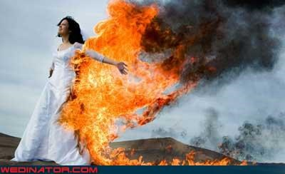 bride on fire brides-dress-on-fire crazy bride picture Crazy Brides crazy wedding picture fashion is my passion funny bride picture funny wedding picture professional photographer surprise technical difficulties trash the dress trend wedding dress trashing wtf