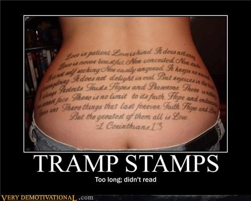 bible,butts,Mean People,tattoos,the internet,tldr,tramp stamps
