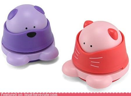 cat shaped stapler gadget kawaii Office staple free staplers staplers - 3825762560