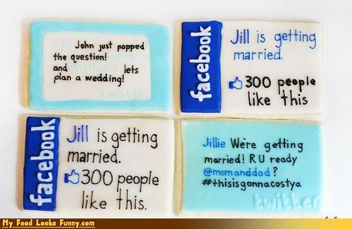 cookies facebook twitter wedding - 3825836544