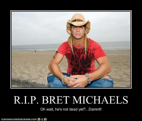 bret michaels,celebrity-pictures-bret-michaels-rip,donald trump,miss universe,poison,ROFlash