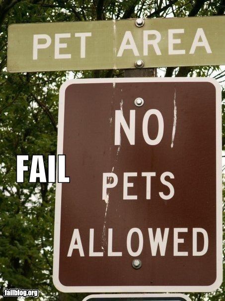 failboat g rated no pets pets signs - 3827095552