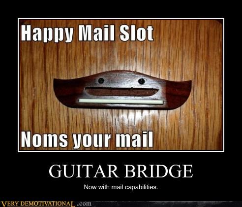 anthropomorphizing,guitar,happy,idiots,impossible,mail,nom nom nom