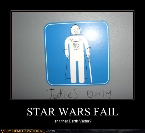 darth vader FAIL graffiti idiots Jedis light saber sign star wars - 3828067072