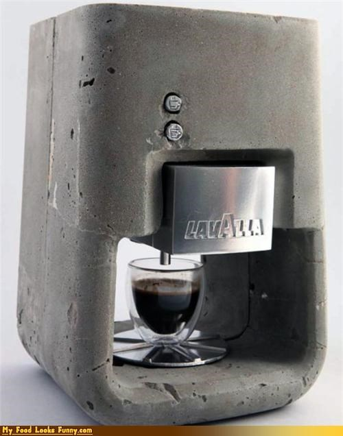 cement coffee concrete espresso gadget machine molded - 3828641536