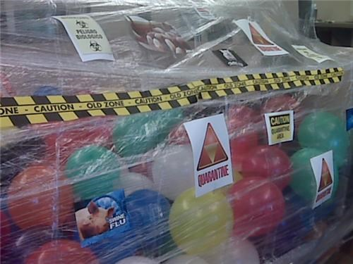 awesome co-workers not Balloons boredom creativity in the workplace cubicle boredom cubicle prank decoration derp dickhead co-workers disease disease vector mess prank pwned quarantine sass screw you sculpture vacation wasteful wiseass wrapping - 3828793344