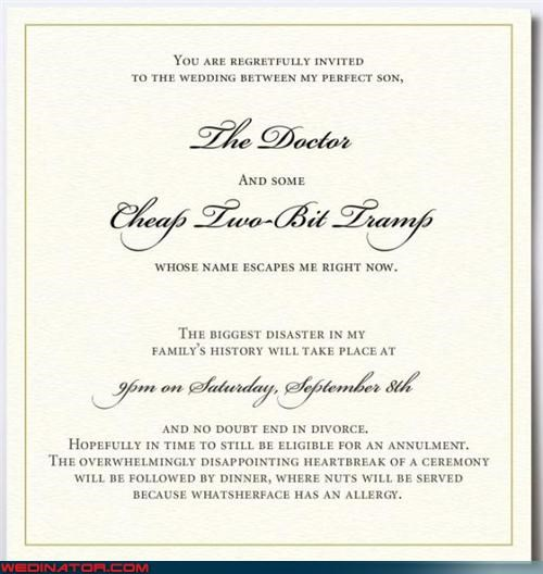 fake wedding invitation funny wedding invite funny wedding picture hilarious wedding invitation nut allergy psa Sheer Awesomeness Wedding Invitation Wedding Themes
