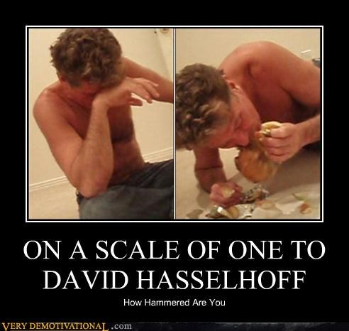 celeb david hasselhoff drinking hammered nom nom nom Terrifying
