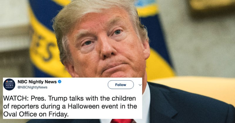 Donald Trump insulting the media in front of children for press event inspires ridiculous reactions on Twitter.