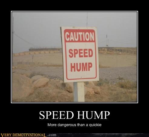 caution hilarious quickie sex signs speed hump