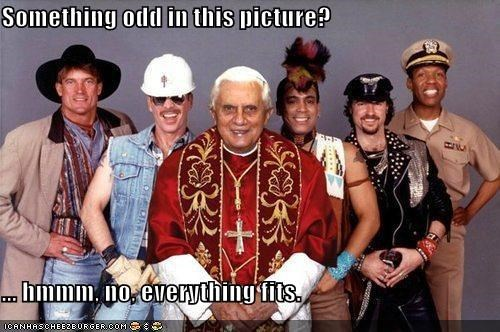 fake funny lolz pop culture Pope Benedict XVI religion shoop - 3831190784