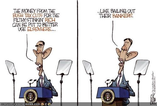 bank barack obama cartoons economy funny - 3831442688