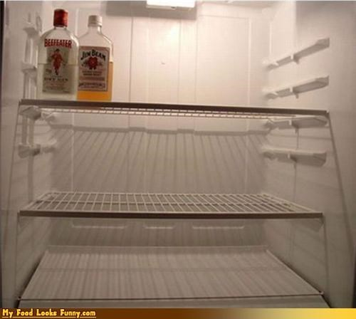 alcohol alcoholic beefeater bottles drink empty fridge gin jim beam refridgerator whisky - 3831456768