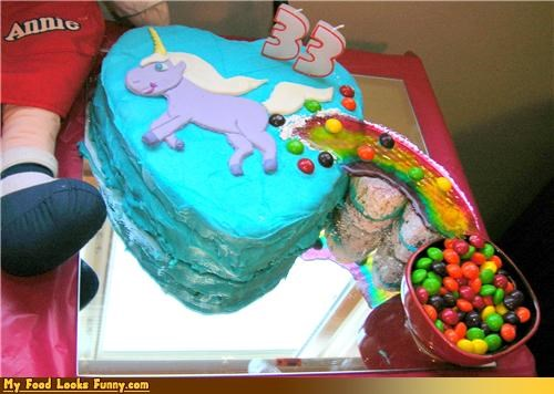 ass birthday cake fart farting heart jellybeans rainbow sugar Sweet Treats unicorn
