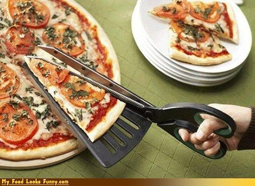one hand,pizza cutter,scissors,uncle