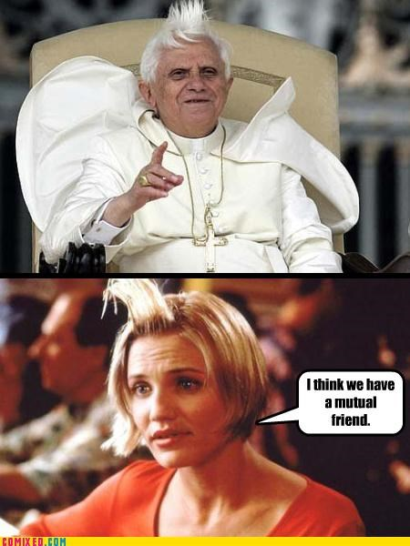 cameron diaz,celebutard,celebutards,From the Movies,gel,hair,man milk,pope,semen,something about mary