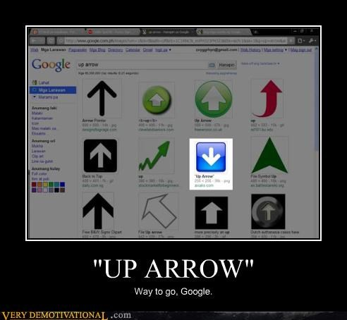 arrow,FAIL,GIS,google,idiots,image search,internet,way to go