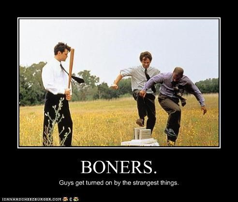 BONERS. Guys get turned on by the strangest things.