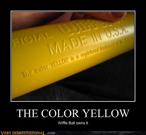 THE COLOR YELLOW Wiffle Ball owns it