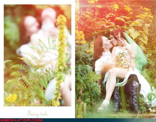 Crazy Brides crazy groom elven newlyweds fairy tale wedding fashion is my passion freaky deeky funny wedding photos getting it on newlyweds making out in the woods paparazzi wedding pictures were-in-love Wedding Themes wtf - 3834380032